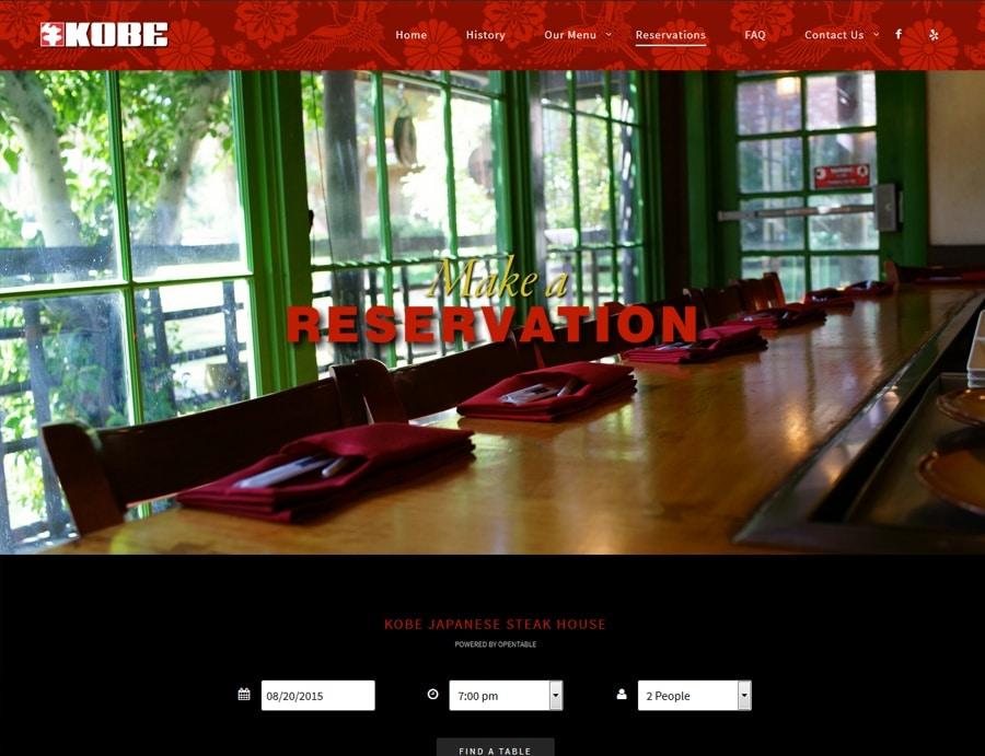 Restaurant Design Orange County : Restaurant website design orange county web ca