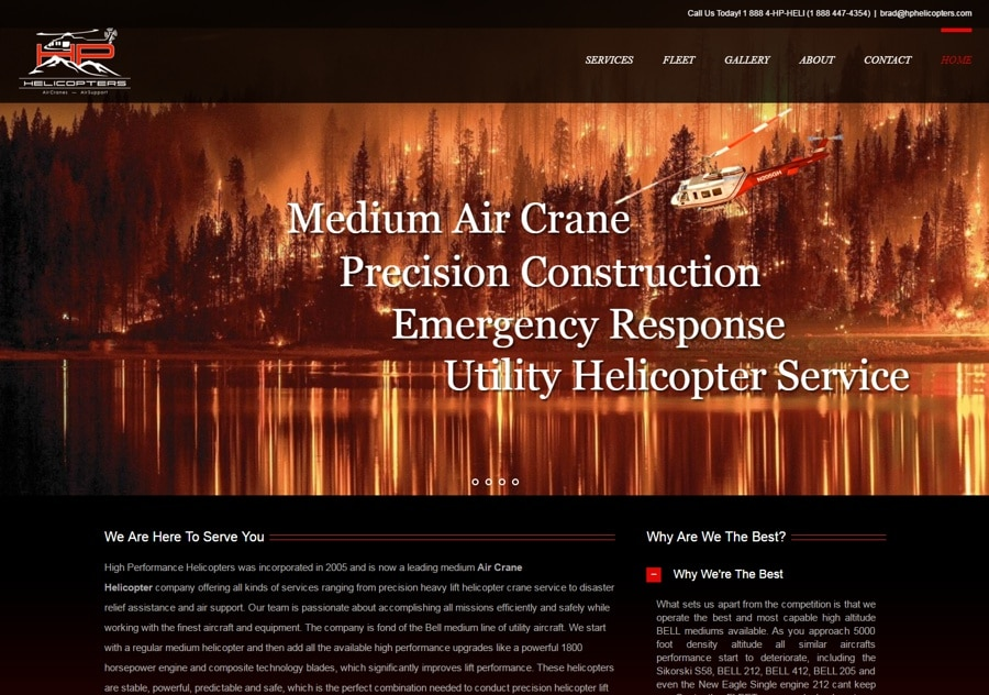 Aviation Web Design