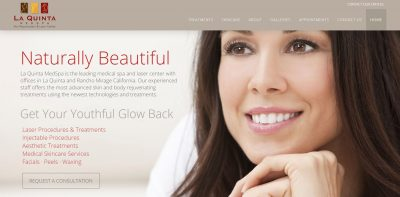 med spa web design orange county