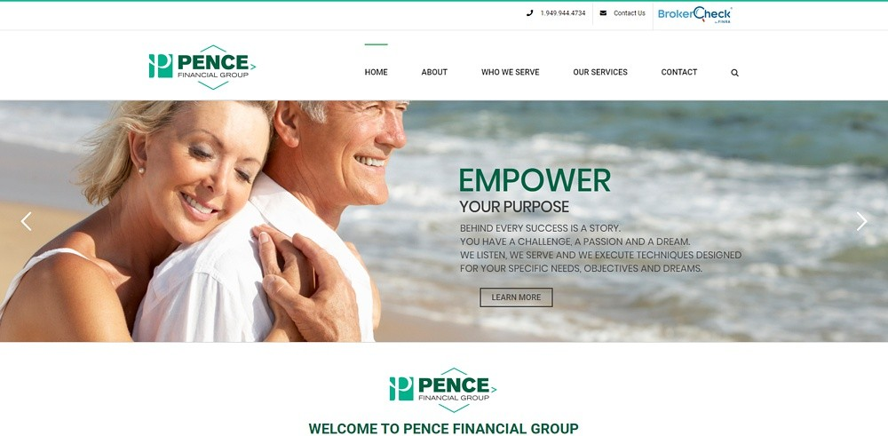financial services website design